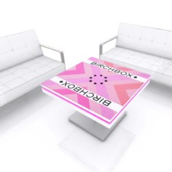 Coffee table with USB charging