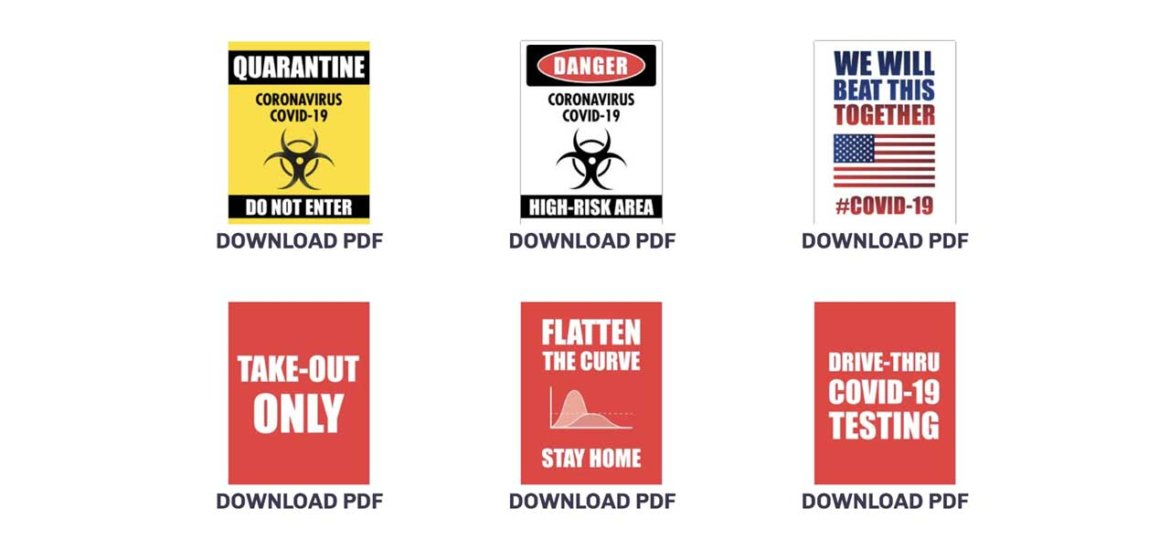 Free Printable PDFs COVID-19 Signs